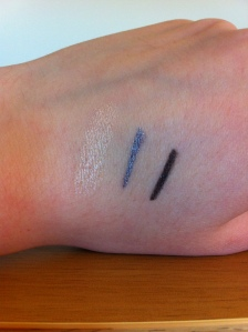 L-R Highlighter, gunmetal grey and black shimmer.