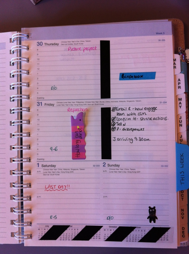You'd think I'd had a quiet week to look at my planner...