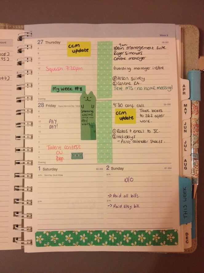 Apologies for the shadows of me standing over the planner!