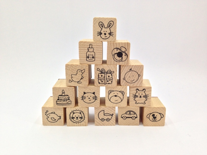 'baby' rubber stamp set