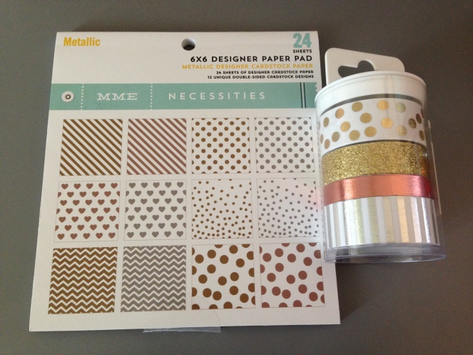 6x6 paper pad and washi tape set