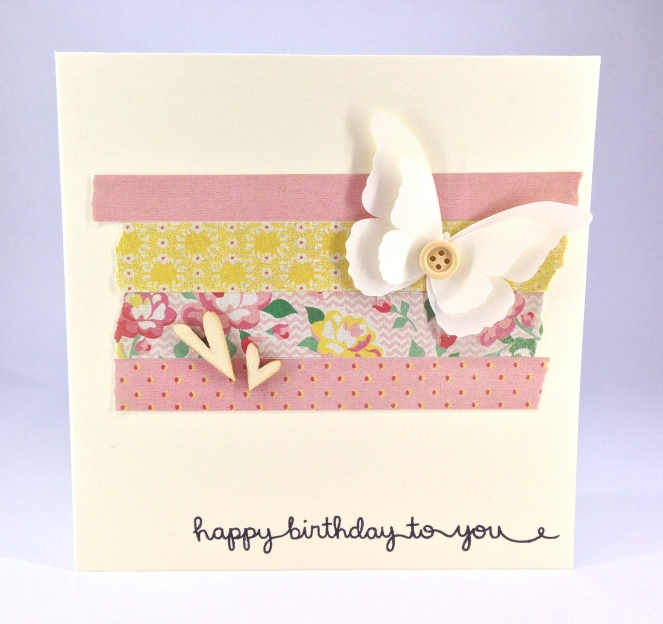 butterfly and heart birthday