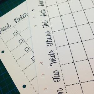 handmade a5 planner inserts
