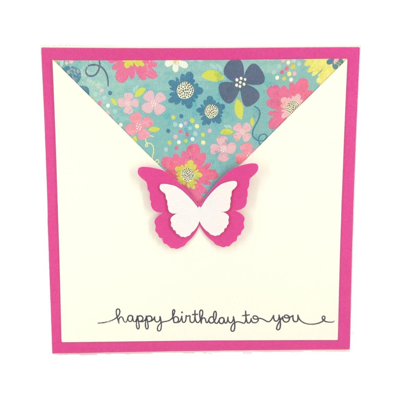 birthday envelope butterfly