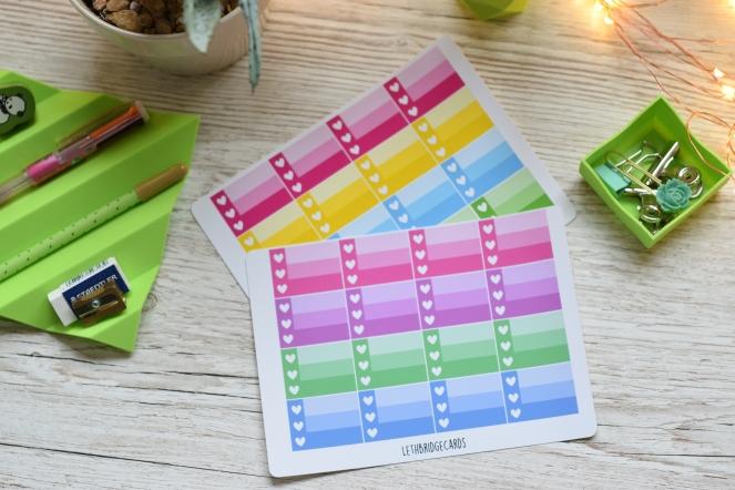 checklist half box stickers